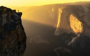 Picture light, people, canyon, light, man, canyon, Aidong Ning