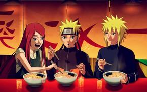 Picture Naruto, Naruto, Uzumaki Kushina, Uzumaki Naruto, Minato, Namikaze