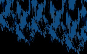 Picture blue, abstraction, black, spot