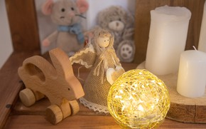 Picture toys, new year, Christmas, composition