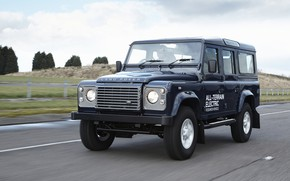 Picture road, prototype, Land Rover, Defender, 2013, All-terrain Electric Research Vehicle