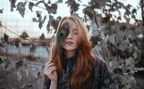 Picture pen, freckles, red, Polly, Lera Muraviev