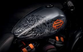 Picture Harley Davidson, Graffiti, Bike, Design