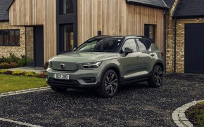 Picture khaki, house, volvo, wood, crossover, awd, 2021, recharge, xc40