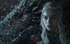 Picture girl, dragon, art, Game of thrones
