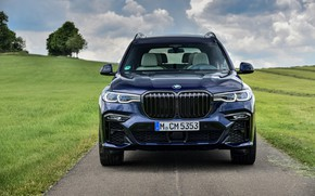 Picture BMW, front, crossover, SUV, 2020, BMW X7, M50i, X7, G07