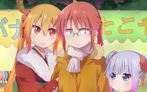 Picture girls, girlfriend, Kobayashi San Chi no Maid Dragon, The dragon-maid Kobayashi