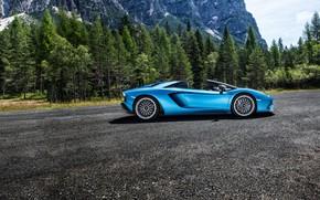 Picture Lamborghini, supercar, 2017, Aventador S, view sboc