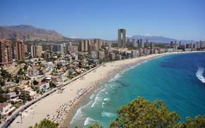 Picture sea, home, panorama, Spain, Benidorm