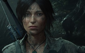 Picture hair, bow, Tomb Raider, Lara Croft, Shadow of the Tomb Raider