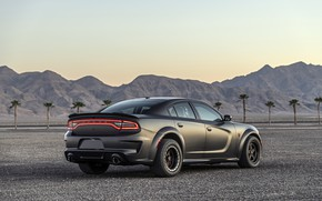 Picture the evening, Dodge, Charger, AWD, 2019, SpeedKore, SEMA 2019, Twin Turbo Carbon