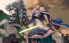 Picture horse, horse, the saber, Fate / Grand Order, The destiny of a great campaign