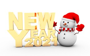 Picture New year, snowman, new year, happy, snowman, 2021