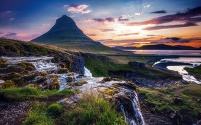 Picture landscape, nature, mountain, Iceland, Kirkjufell, Kirkjufell, Алексей Кретов