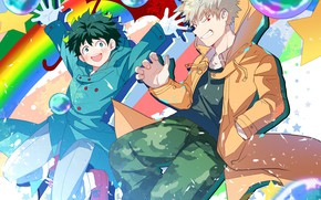 Picture color, guys, bright, My Hero Academia, Boku No Hero Academy, Midori Isuku, My Hero Academy, …