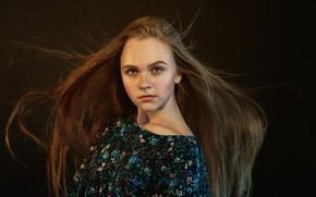 Picture freckles, sponge, the beauty, curls, Eugene Sibirev