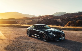 Picture sunset, Mercedes-Benz, AMG, 2018, GT C