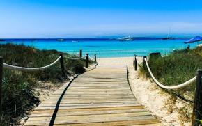Picture sea, beach, pass, Formentera