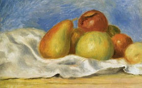 Picture picture, 1890, Pierre Auguste Renoir, Pierre Auguste Renoir, Still life with Apples and Pears