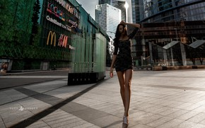Picture girl, the city, dress, Yura Warner, Anna Ross