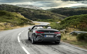 Picture BMW, convertible, xDrive, G14, 8-series, 2019, Eight, M850i Convertible, bend road