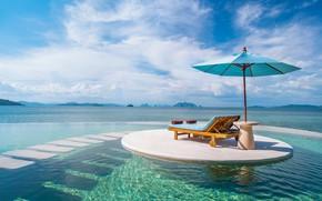 Picture sea, stay, umbrella, sunbed