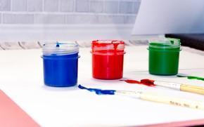 Picture paint, artist, creativity, brush, gouache, risunok