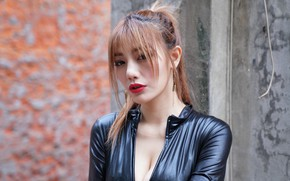 Picture latex, Asian, hairstyle, bokeh