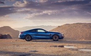 Picture BMW, side view, Coupe, Competition, UK-Spec, 2019, BMW M8, F92