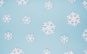 Picture winter, snowflakes, background, blue, Christmas, blue, winter, background, snowflakes