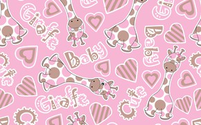 Picture background, pink, Wallpaper, texture, design, pattern, Children, children's room