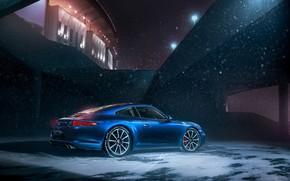 Picture Winter, Auto, Night, 911, Porsche, Snow, Machine, Porsche 911, Carrera, Porsche 911 Carrera S, Carrera …