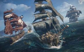 Picture water, the ocean, ships, Skull and bones, E3 2018, Skull & Bones