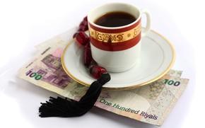 Picture tea, money, bills