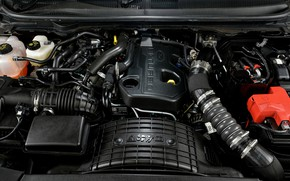 Picture engine, Ford, Everest, 4WD, under the hood, XLT, 2019