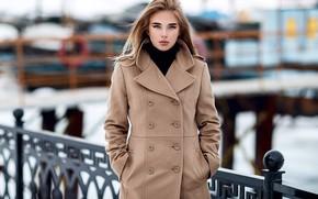 Picture pose, Girl, coat, Sergey Sorokin, Luba Ivanova
