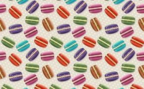Wallpaper background, texture, cookies, dessert, macaron