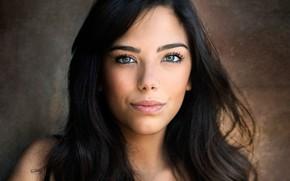 Picture look, close-up, background, model, portrait, makeup, brunette, hairstyle, beauty, bokeh, Nicholas David Furnari
