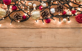 Picture decoration, New Year, Christmas, garland, Christmas, wood, New Year, decoration, Merry