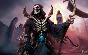 Picture death, the game, skeleton, braid, Runescape