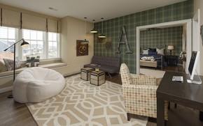Picture design, interior, bedroom, living room