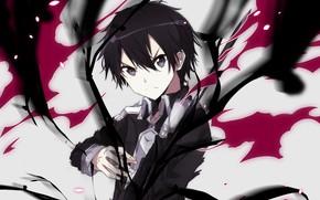 Picture look, anime, art, Blots, guy, Sword art online, Sword Art Online, Kirito