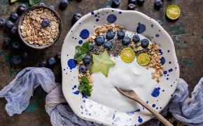 Picture berries, Breakfast, yogurt, oatmeal, Natasha Breen, Chia
