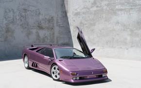 Picture Purple, Classic, Supercar, Lamborghini Diablo