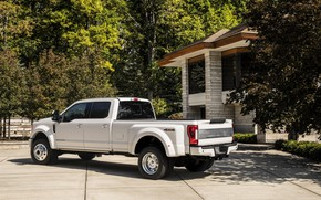 Picture trees, vegetation, Ford, pickup, 4x4, 2018, 440 HP, Super Duty, F-450, Limited, V8, 6.7 L., …