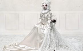Wallpaper girl, heart, vampire