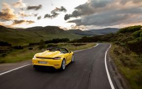 Picture Sunset, Road, Porsche, Spyder, Porsche 718, 2019, Porsche 718 ( 982 ) Spyder