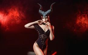 Picture demon, model, brunette, A Diakov George