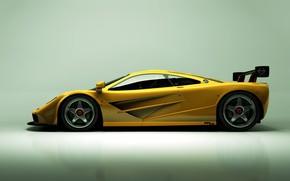 Picture McLaren, Yellow, Machine, Car, Render, Supercar, Rendering, Sports car, Side view, Yellow, McLaren F1 LM, …