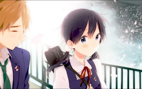 Picture girl, guy, students, Shop Tamako, Tamako Market